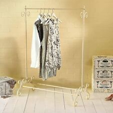 VINTAGE STYLE SHABBY CHIC CREAM CLOTHES HANGNING GARMENT CLOTHES RAIL