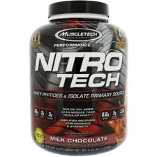 MuscleTech NitroTech Whey Protein Powder, Whey Isolate and Peptides, 4 LBS