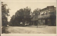 Moira NY Main St. West c1910 Real Photo Postcard