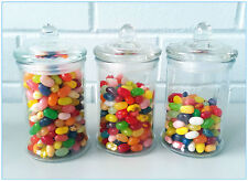 6 X Glass Apothecary Candy Lolly Buffet Jar Candle Waxing, Wedding & Party 330ML