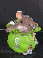 Fitz & Floyd Charming Tails Change Can Be Good Mouse Money Bag Mib Signed