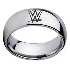 WWE Wrestling Hall Of Fame Stainless Steel Rings Arc Edge Band Size 6-13