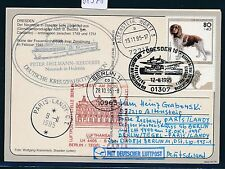 81578) LH FF Berlin - Paris 28.10.95, Karte Schiffspost Hamburg - Dresden
