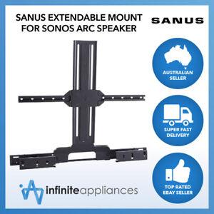 Sanus Extendable Soundbar TV Mount for Sonos Arc Speaker Bracket Black WSSATM1