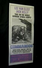 Original COMMANDOS Lee Van Cleef Australian Printed South Pacific Style Daybill