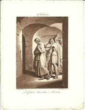 Stampa antica SAN GABINO Bigioli 1839 Old antique print