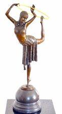 Chiparus Art Deco Bronze Skulptur mit Echtgold Applikationen signiert