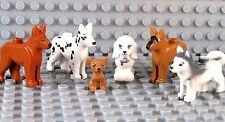 ☀️NEW Lego Friends Animal Pets x6 Dogs Husky Shepherd Dalmatian Chihuahua Poodle