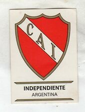 figurina PANINI FOOTBALL CLUBS NUMERO 15 INDEPENDIENTE