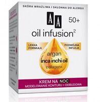 AA Oil Infusion Argan Inca Inchi Oil Collagen+ Modelling Re-contour 50+ Night