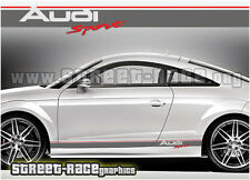 Audi 002 racing stripes graphics stickers decals Audi sport, TT quattro etc