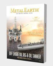 Fascinations Metal Earth Off Shore Oil Rig & Oil Tanker 3D Metal Model Kit