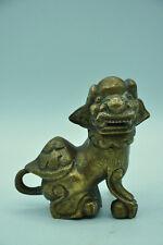Statue de lion de Fô ou Shi bronze ou laiton collection art Chine Asie