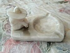 Vintage Marble/Alabaster Siesta Mexican Sombrero Ashtray