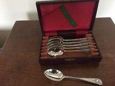 LOVELY montato con Montante Set di 6 Vittoriano Solido ARGENTO cucchiaini da tè (LONDRA 1899)