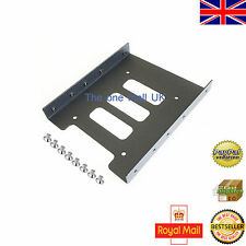 "PC 2.5"" HDD/SSD TO 3.5"" BLACK THIN METAL MOUNTING ADAPTER BRACKET DOCK FOR SSD"