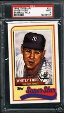 1989 Talk Baseball # 31 Whitey Ford PSA 9 Mint Pop1