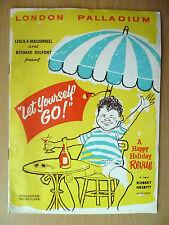 .Vintage London Palladium Theatre Programme: LET YOURSELF GO: Robert Nesbitt