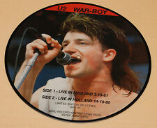 :PICTURE DISC WAR-BOY-LIVE ENGLAND-ONLY 300 COPIES EX++