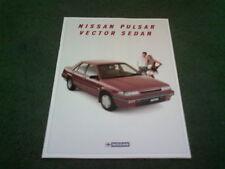 November 1987 NISSAN PULSAR VECTOR SALOON - AUSTRALIAN 12pg BROCHURE Sunny