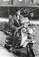 PHIL DANIELS Signed In Person 12x8 Photo Proof QUADROPHENIA Scooter MODS COA