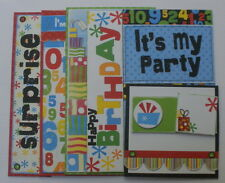 Journal Chipboard Kit - IT'S MY BiRTHDAY- Bo Bunny Picture & Quote Card Die Cuts
