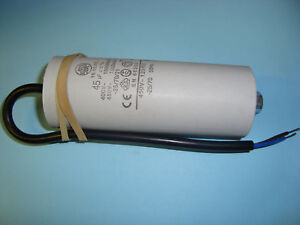 45uF Motor Run Capacitor 450V, Twin Cable