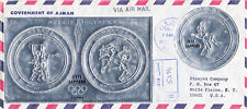 MANAMA 0109 BS (6)+106S FDC SAPPORO ON MEXICO OLYMPIC ROUL SILVER SS REG'D FDC