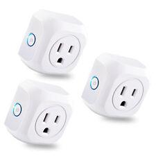 3 Pack WiFi Smart Plug APP Remote Control Timer Outlet Power Socket US Plug