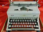 Vintage 1948 Royal Arrow Typewriter Two Tone Tombstone Glass Keys Original Case