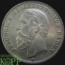 S933) j.27 Baden 5 MARK 1876 G-Friedrich I. 1852-1907 - Argent