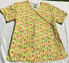 Women Scrub Top - SB Scrubs APPLES  - Size M
