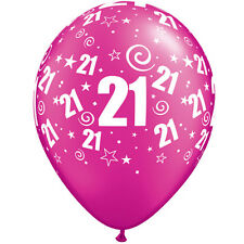 """25 Fuchsia Hot Pink Helium or Air Fill Balloons 11 Inch Party Decorations 11"""" 21st/ Age 21"""
