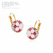 Alloy Crystal Yellow Gold Fashion Earrings