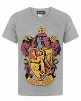 Harry Potter Gryffindor Crest Short Sleeve Grey Boy's T-Shirt