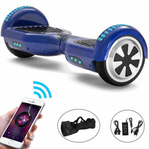 Hoverboard Blue 6.5 Inch Self-balancing Scooter Bluetooth Electric Scooters LED