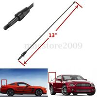 "13"" Black Spring Stainless AM FM Antenna Aerial Mast For Ford Mustang"