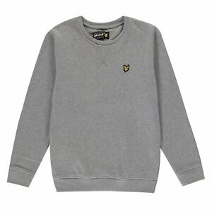 Lyle and Scott Fleece Pullover Youngster Boys Crew Jumper Full Length Sleeve