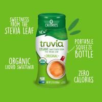 Truvia Organic Zero Calorie Liquid Stevia Sweetener Bottle Original flavor 2.7