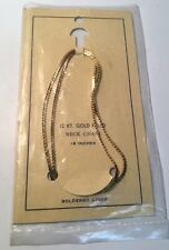 "18"" 12KT GOLDFILLED VINTAGE S CHAIN MADE IN USA NWT"