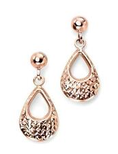 9Carat Drop/Dangle Rose Gold Fine Earrings without Stones
