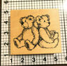 1996 TEDDY BEAR PSX K-1911 Santa Rosa CA Wood Mounted Rubber Stamp
