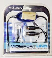 M-Audio USB Midisport Uno Portable 1-in/1-out MIDI Interface via USB, New