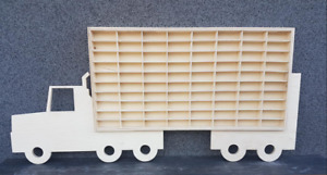 For Hot Wheels Diecast Car Display LORRY Wooden Unit Trinket Shelf Toy Storage