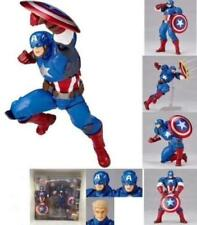 Revoltech Series Captain America PVC Action Figure Toy Collection Gift New 2018