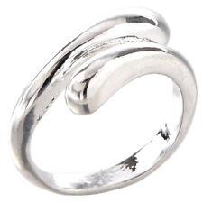 Bellezza e semplicita' anello d'argento registrabile regolabile unisex novi G7I0