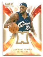 2008-09 Fleer Hot Prospects LeBron James Hot Materials