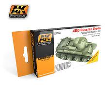 AK Interactive - 4BO Russian Green Modulation Set # 00553