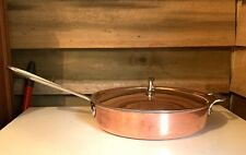 Vintage All-Clad Copper 11 Inch Tri-Ply Bonded Fry Pan Skillet  LOOK