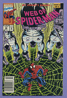 Web of Spider-Man #98 1993 2nd Appearance Nightwatch(Out of Costume)Newsstand